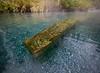 Bench, Liard Hot Springs, Northern British Columbia.