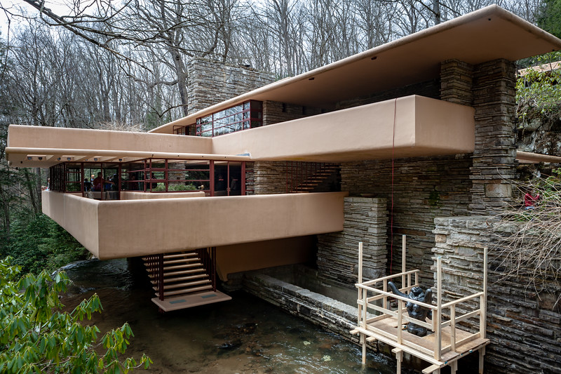 Fallingwater, Mill Run, PA. Digital, Apr 2018.