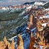 Snowy Firs and Spires at Bryce