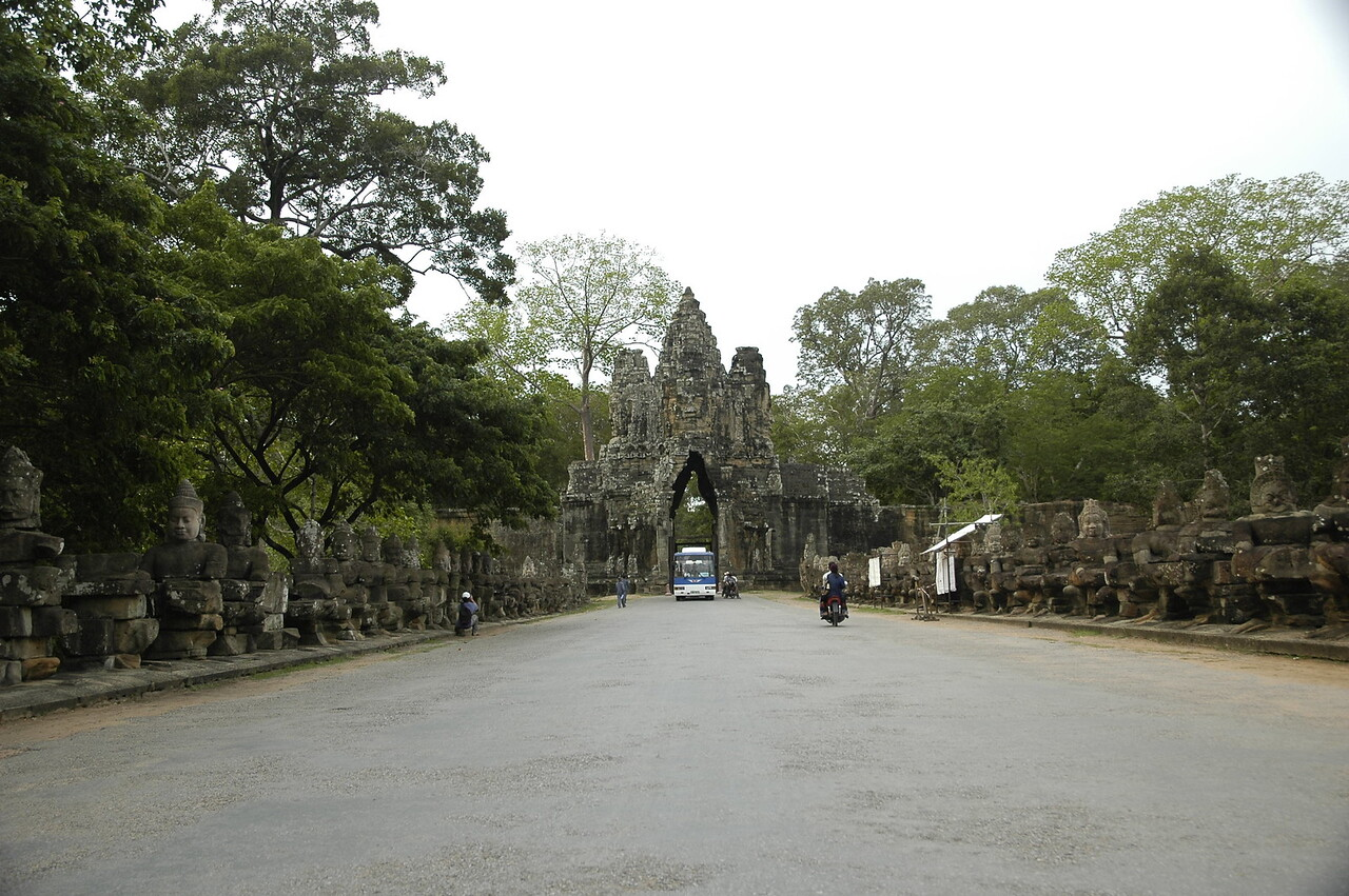 One of the gates to Angkor Wat Temple, Cambodia.