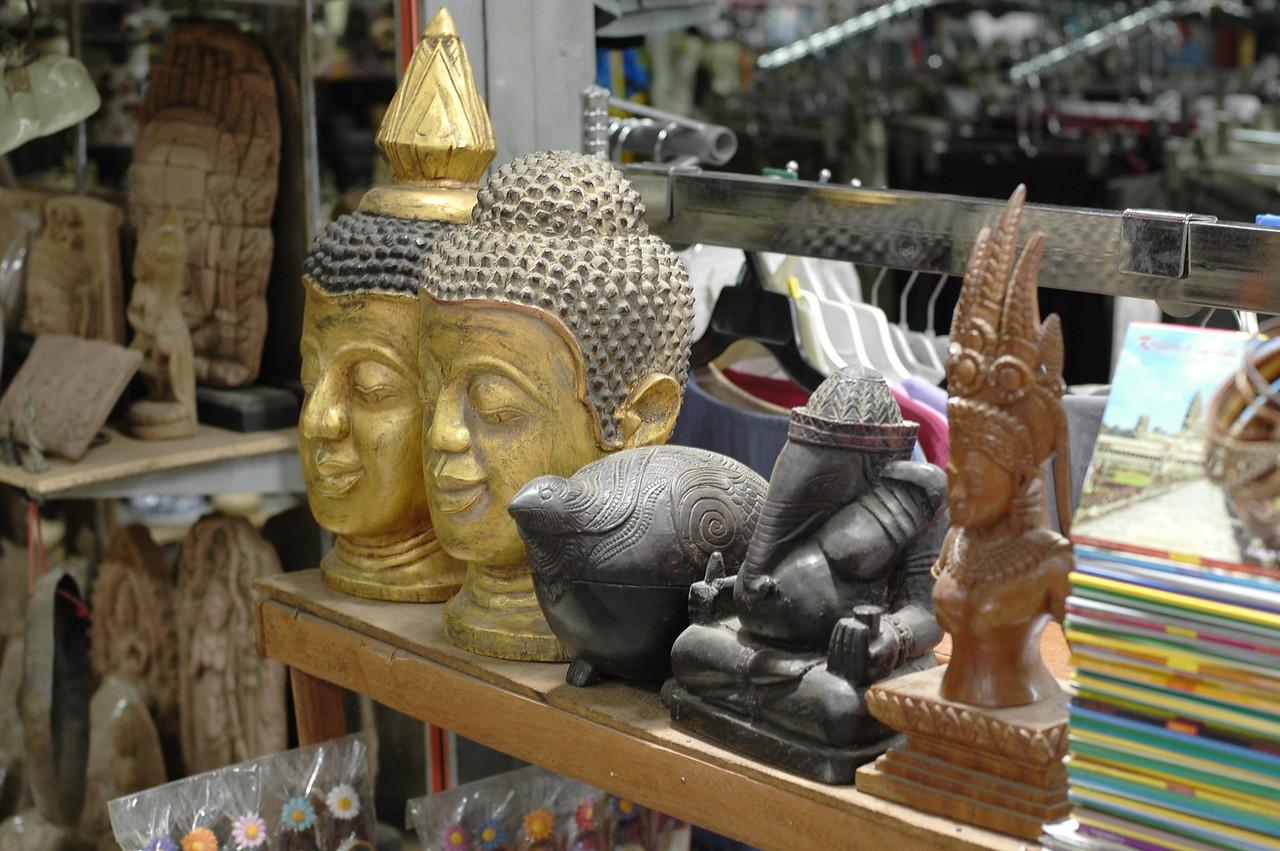 Shopping in Siem Reap, Cambodia.