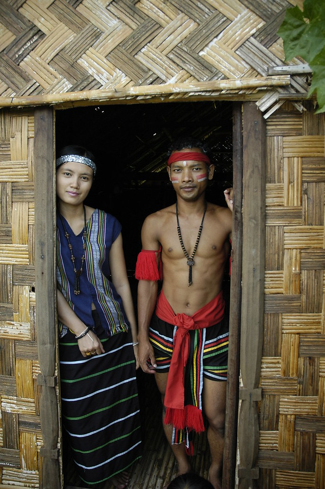 Traditional home & dress in Siem Reap, Cambodia.