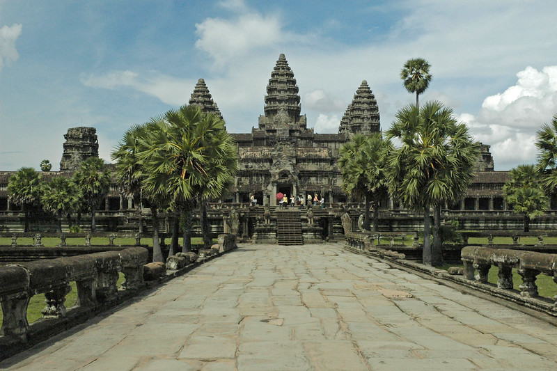 Entrance to Angkor Wat Temple Complex at Siem Reap, Cambodia.