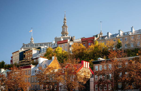Historical buildings in the old town of Quebec