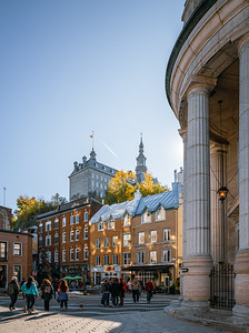 Historical building in the old town of Quebec
