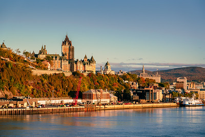 City view of Quebec and the Château Frontenac   during sunrise