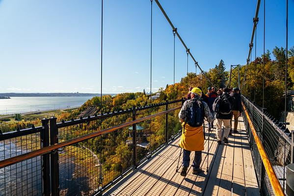 On the Montmorency Falls bridge