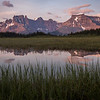 """Sunset Pass Sunrise"" IV, First light on Mts Amery and Erasmus, Sunset Pass, Banff National Park, Alberta, Canada."