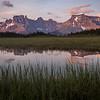 """Sunset Pass Sunrise"" IV, First light on Mts Amery and Erasmus, Sunset Pass, Banff National Park, Alberta, Canada."