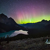 """Witness""  Aurora over Peyto Lake, Banff National Park, Alberta, Canada."