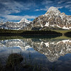 """Alpine Mirror"" I, Lower Waterfowl Lake, Banff National Park, Alberta, Canada."