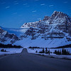 """Road to the Stars"" I  Icefields Parkway near Bow Lake, Banff National Park, Alberta, Canada."