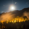 """Backlit Billows"" III<br /> <br /> Banff Springs Hotel, Banff National Park, Alberta, Canada."