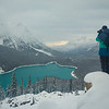 """Contemplating the Winter Ahead"" IX, Peyto Lake, Banff National Park, Alberta, Canada."