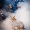 """Sentinels"" V, sunrise on the emerging towers of Mount Babel, Banff National Park, Alberta, Canada."