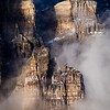 """Sentinels"" II, sunrise on the emerging towers of Mount Babel, Banff National Park, Alberta, Canada."