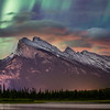 """Tumbling Light"" III, Vermilion Lakes, Banff National Park, Alberta, Canada."