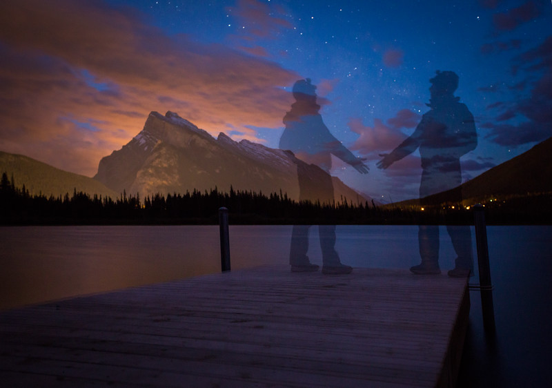 """Phantom Gathering"" I, Vermilion Lakes, Banff National Park, Alberta, Canada."