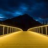 New pedestrian bridge in Banff, Canada.