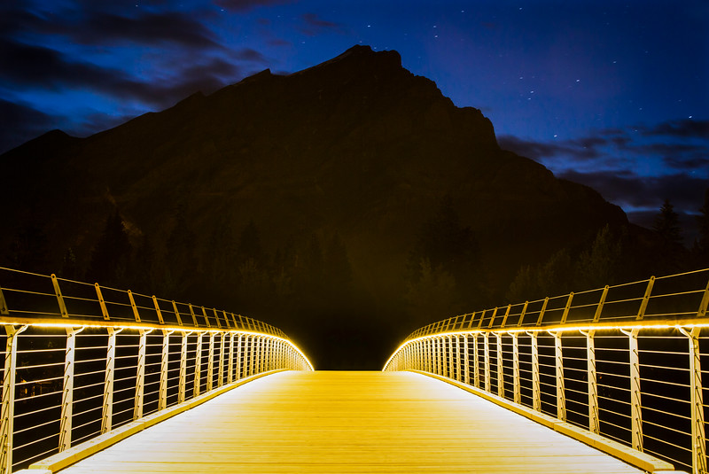 New pedestrian bridge in Banff, Canada.