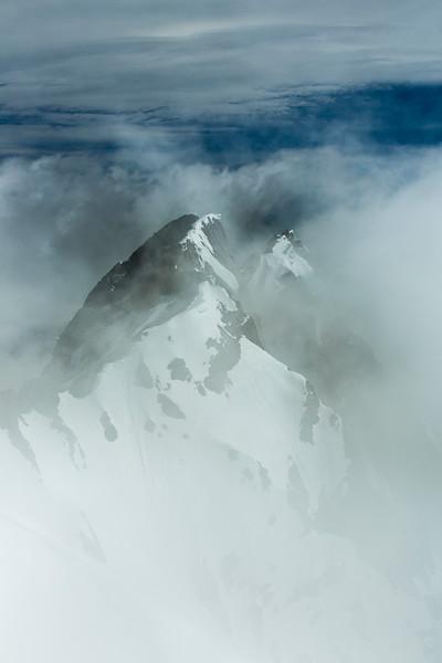 """Ghostly Peaks"" III, Cascade Mountain, Banff National Park, Alberta, Canada."