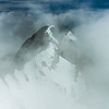 """Ghostly Peaks"" III, Cascade Mountain, Banff National Park, Alberta, Canada."