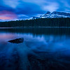 """Fallen""  Blue hour at Johnson Lake last night. The remains of a giant now lie mostly underwater..."
