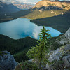 """Evening at Pinto Lake"" III, White Goat Wilderness/Banff National Park, Alberta, Canada."