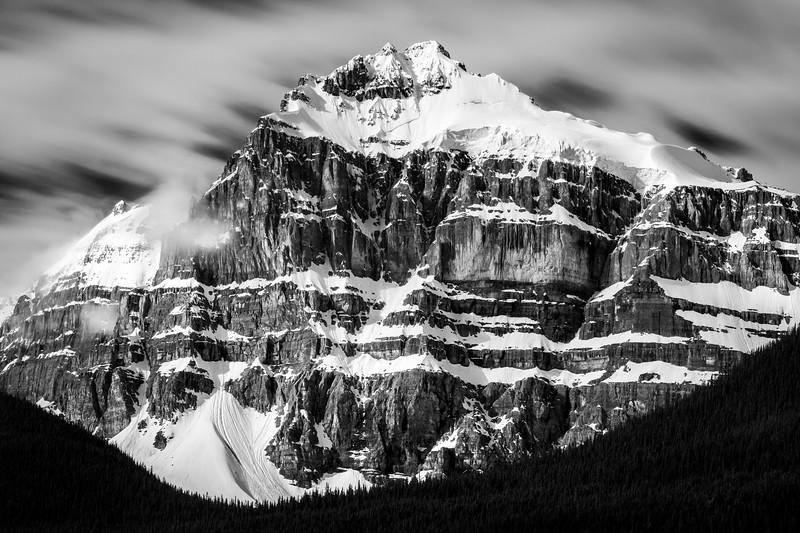 """Hasty Skies"" III, Epaulette Mountain, Banff National Park, Alberta, Canada."