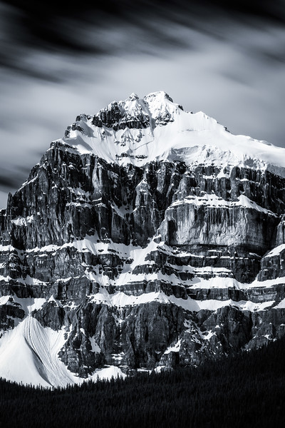 """Hasty Skies"" II, Epaulette Mountain, Banff National Park, Alberta, Canada."