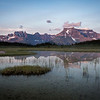 """Sunset Pass Sunrise"" I, First light on Mts Amery and Erasmus, Sunset Pass, Banff National Park, Alberta, Canada."