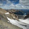 """Crumbly Chimneys"" III, Images from a rare ascent of Chimney Peak, Banff/Kootenay National Park, Alberta/BC, Canada."