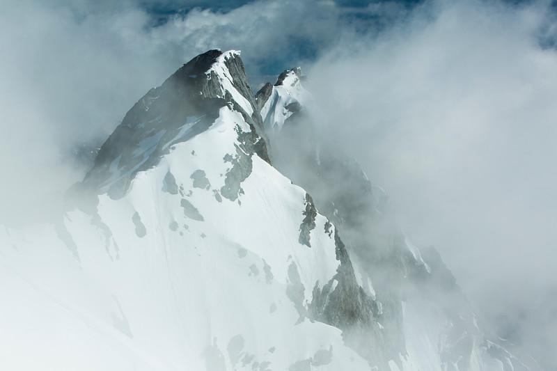 """Ghostly Peaks"" II, Cascade Mountain, Banff National Park, Alberta, Canada."