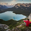 """Evening at Pinto Lake"" IX, White Goat Wilderness/Banff National Park, Alberta, Canada."