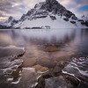 """Closing In"" II, Bow Lake, Banff National PArk, Alberta, Canada."