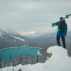 """Contemplating the Winter Ahead"" II, Peyto Lake, Banff National Park, Alberta, Canada."
