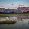 """Sunset Pass Sunrise"" II, First light on Mts Amery and Erasmus, Sunset Pass, Banff National Park, Alberta, Canada."
