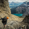 """Atop the Giant"" XXXIX, Scenes from an ascent of Mount Chephren, Banff National Park, Alberta, Canada."