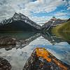 """""""Mistaya Morning"""" III, Mistaya Lake, Banff National Park, Alberta, Canada."""