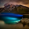 """Polychrome Nights""  Lake Minnewanka, Banff National Park, Alberta, Canada."