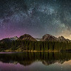 """By The Millions"" II  Milky Way over Johnson Lake, Banff National Park, Alberta, Canada."