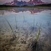 """Sunset Pass Sunrise"" III, First light on Mts Amery and Erasmus, Sunset Pass, Banff National Park, Alberta, Canada."