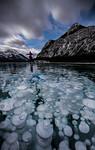 Skating on frozen  methane bubbles, Barrier Lake, Kananaskis