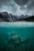 Underwater Moraine Lake
