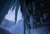 Frozen ice pillars at Panther Falls