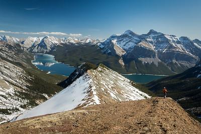 Scenes from Mount Aylmer, Banff National Park