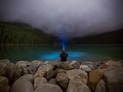 Night time at Lake Louise, Banff National Park