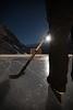 Night time ice hockey at Lake Louise, Banff National Park