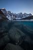Underwater Moraine Lake and 10 Peaks