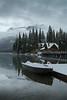 First snowfall at Emerald Lake